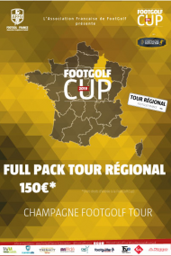 FULL PACK CHAMPAGNE FOOTGOLF TOUR